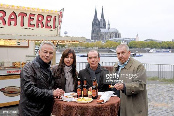 Klaus J Behrendt Simone Thomalla Martin Wuttke and Dietmar Baer attend the Photocall Tatort 'Ihr Kinderlein kommet' on October 11 2011 in Cologne...