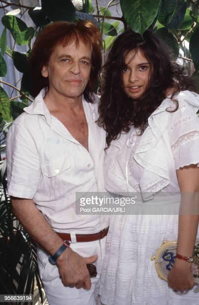 Klaus Kinski et sa femme Deborah Kinski lors du Festival de Cannes en mai 1988, France.