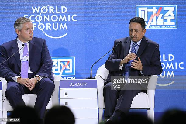 Klaus Kleinfeld Chairman and Chief Executive Officer of Alcoa and Mohammed H Al Mady ViceChairman and Chief Executive Officer of Saudi Basic...