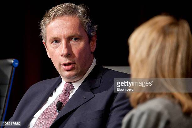 Klaus Kleinfeld chief executive officer of Alcoa Inc speaks during a meeting of the Wall Street Journal CEO Council in Washington DC US on Tuesday...