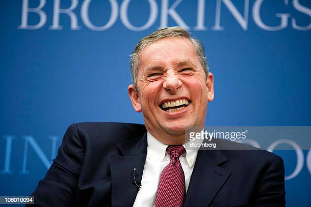 Klaus Kleinfeld president and chief executive officer of Alcoa Inc speaks during an event at the Brookings Institute in Washington DC US on Wednesday...