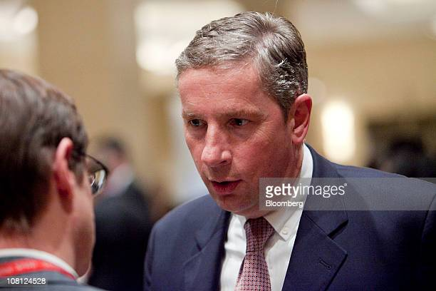 Klaus Kleinfeld president and chief executive officer of Alcoa Inc speaks to attendees following a signing ceremony at the USChina Strategic Forum on...