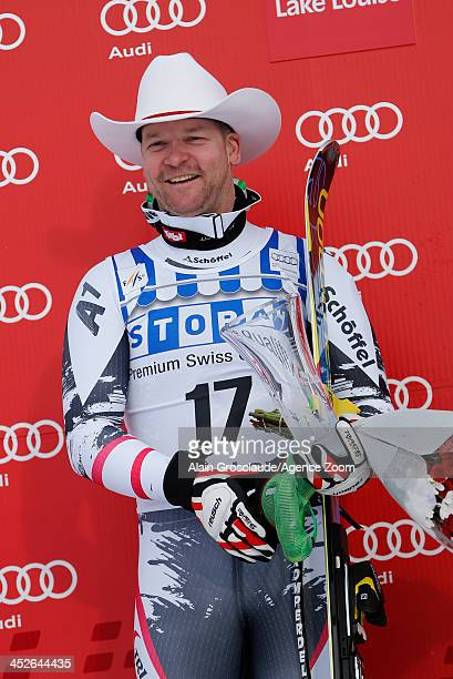 Klaus Kroel of Austria takes 2nd place during the Audi FIS Alpine Ski World Cup Men's Downhill on November 30 2013 in Lake Louise Canada