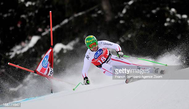 Klaus Kroell of Austria competes during the Audi FIS Alpine Ski World Cup Men's Downhill training on December 28 2012 in Bormio Italy