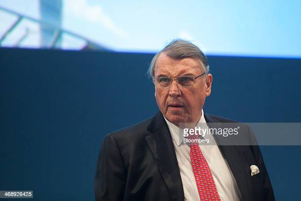 Klaus Mangold chairman of TUI AG reacts before the company announces their fullyear earnings in Hanover Germany on Wednesday Feb 12 2014 TUI AG the...