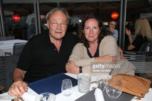 "Klaus Maria Brandauer and his wife Natalie Krenn Brandauer during the reading of ""Jedermann"" according to the 100th anniversary of the Salzburg Opera..."