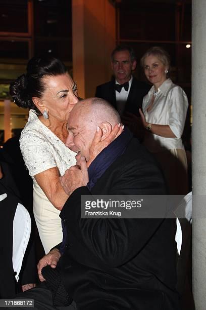 Klaus Maria Brandauer And Maria Brauner at the 90th birthday of Artur Brauner In Berlin On 130908