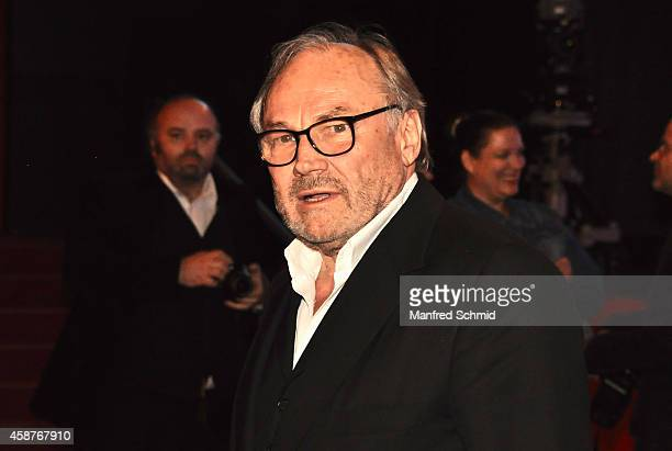 Klaus Maria Brandauer poses for a photograph during the Nestroy Award 2014 at Wiener Stadthalle on November 10 2014 in Vienna Austria