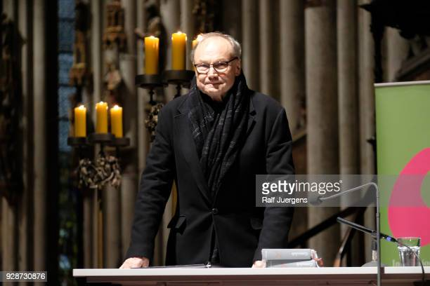 Klaus Maria Brandauer reads Fyodor Dostoyevsky's 'Grand Inquisitor' as part of the litCOLOGNE festival at Cologne Cathedral on March 7 2018 in...