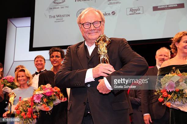 Klaus Maria Brandauer with award during the Hessian Film and Cinema Award at Alte Oper on October 21 2016 in Frankfurt am Main Germany