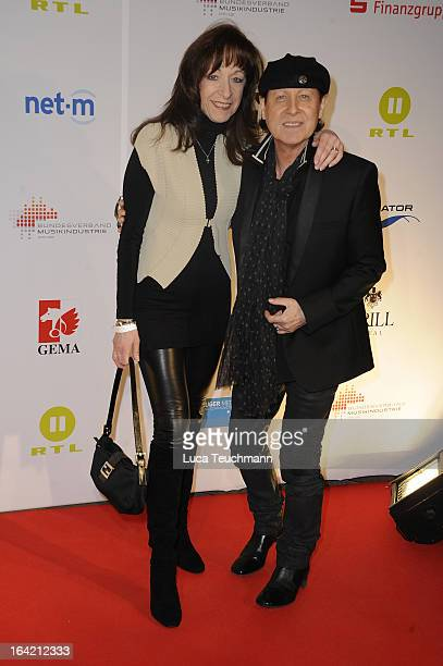 Klaus Meine and Gabi Meine attend the Musik Hilft Charity Dinner at the Grill Royal on March 20 2013 in Berlin Germany