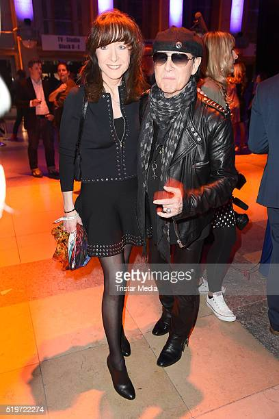 Klaus Meine and his wife Gabi Meine attend the Echo Award 2016 after show party on April 07 2016 in Berlin Germany