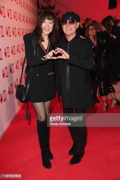Klaus Meine and his wife Gabi Meine during the Ein Herz Fuer Kinder Gala at Studio Berlin Adlershof on December 7 2019 in Berlin Germany