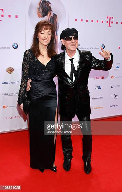 Klaus Meine and his wife Gaby attend the Diva Award 2011 at Hotel Bayerischer Hof on January 25 2011 in Munich Germany