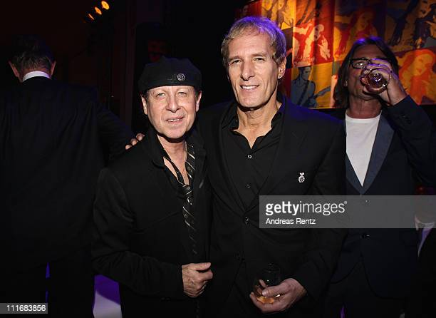 Klaus Meine and Michael Bolton attend the 'Deutscher Live Entertainment Award PRG LEA 2011' at the Festhalle on April 5 2011 in Frankfurt am Main...
