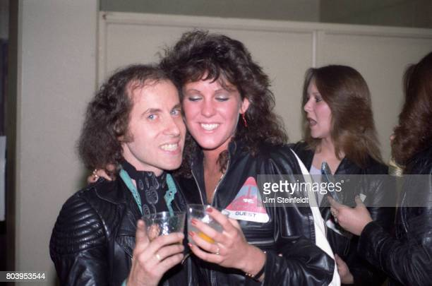 Klaus Meine of Scorpions and friend pose for a portrait backstage at the St Paul Civic Center in St Paul Minnesota on May 9 1984