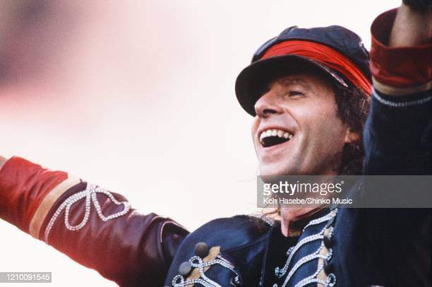 Klaus Meine of Scorpions performs at Moscow Music Peace Festival Luzhiniki Stadium Moscow Soveiet Union August 1991