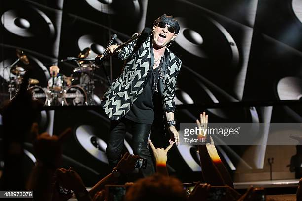 Klaus Meine of Scorpions performs during Scorpions' 50th Anniversary Tour at Molson Canadian Amphitheatre on September 18 2015 in Toronto Canada