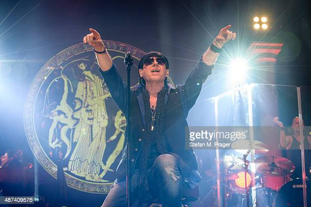 Klaus Meine of Scorpions performs on stage at Olympiahalle on April 29 2014 in Munich Germany