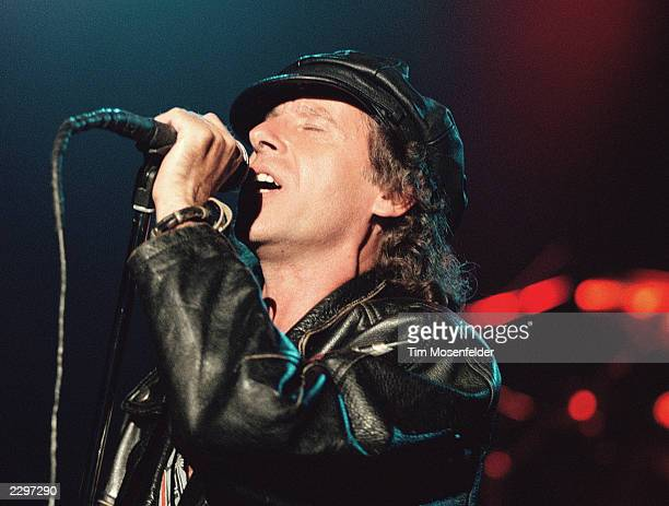 Klaus Meine of the Scorpions performing at Shoreline Amphitheater in Mountain View Calif on June 22nd 1991 Image By Tim Mosenfelder/ImageDirect