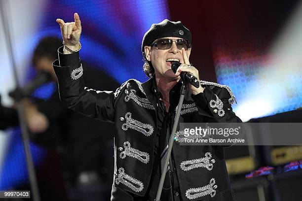 Klaus Meine performs on stage during the World Music Awards 2010 at the Sporting Club on May 18 2010 in Monte Carlo Monaco