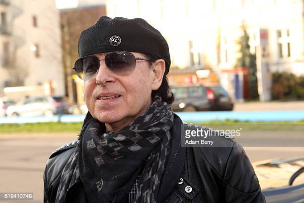 Klaus Meine singer of the band Scorpions arrives for the opening of 'The Wall Museum East Side Gallery' at East Side Gallery on April 6 2016 in...
