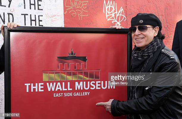Klaus Meine singer of the band Scorpions attends the opening of 'The Wall Museum East Side Gallery' at East Side Gallery on April 6 2016 in Berlin...