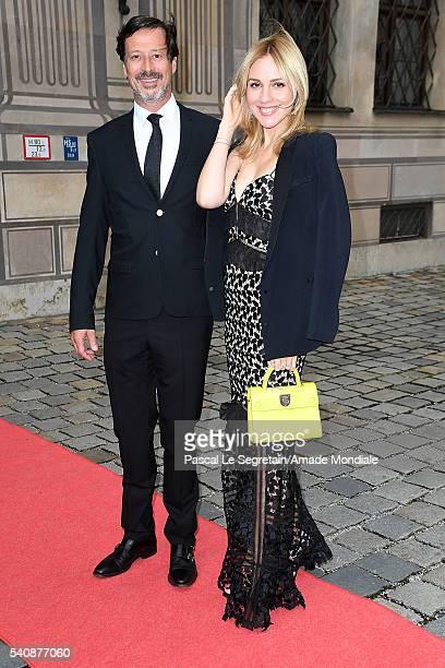 Klaus Rader and wife Victoria Rader attend the AMADE Deutschland Charity dinner on June 14 2016 in Munich Germany