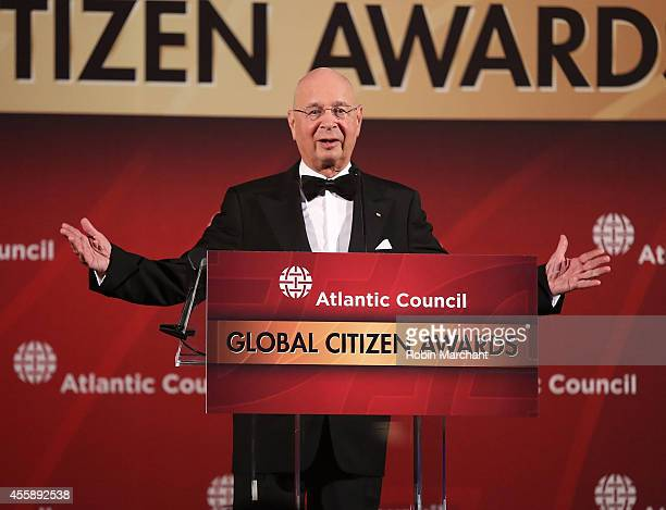 Klaus Schwab Founder and Executive Chairman World Economic Forum attends 2014 Atlantic Council's Global Citizen Awards at Natural History Museum on...
