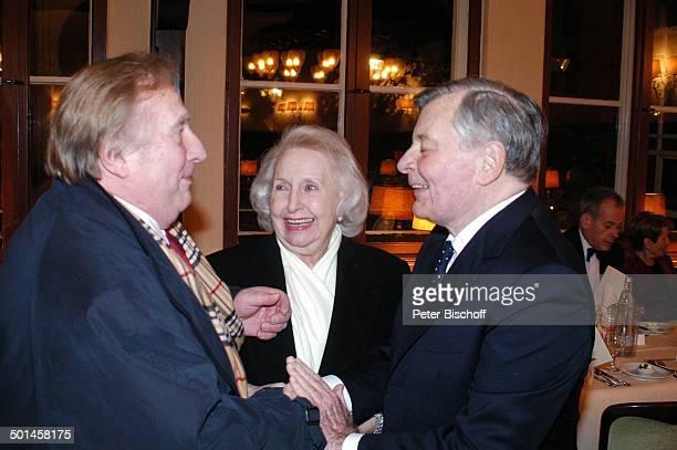 Klaus Sonnenschein und Ehefrau Edith Hancke Peer Schmidt Party zum 80 Geburtstag von P e e r S c h m i d t Restaurant Moorlake Berlin Wannsee...