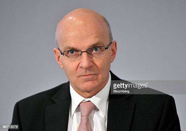 Klaus Stahlmann member of the executive board of MAN SE pauses during the company's news conference in Munich Germany on Monday Feb 15 2010 MAN SE...