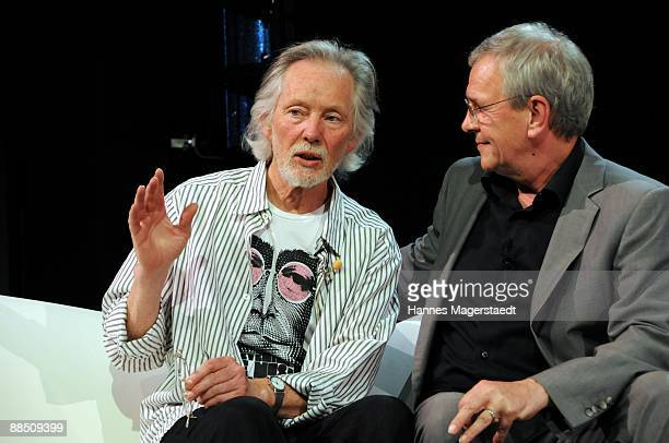 Klaus Voormann and Fritz Egner attend the presentation of Klaus Voormanns new album 'A Sideman's Journey' at the Schloss on June 15 2009 in Munich...
