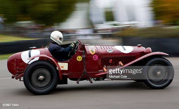 Klaus Werner driving his 1933 Alfa Romeo 8C 2300 Monza Brooklands Trophy