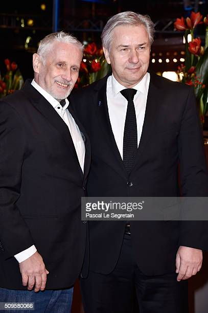 Klaus Wowereit and his husband Joern Kubicki attend the 'Hail, Caesar!' premiere during the 66th Berlinale International Film Festival Berlin at...
