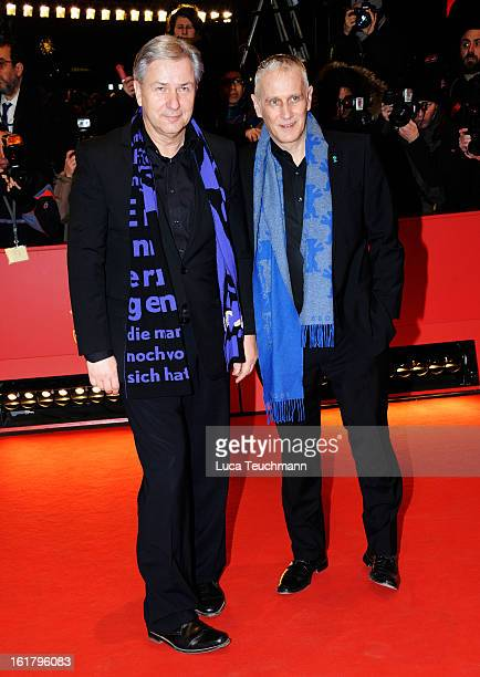 Klaus Wowereit and Joern Kubicki attend the Closing Ceremony of the 63rd Berlinale International Film Festival at Berlinale Palast on February 14...