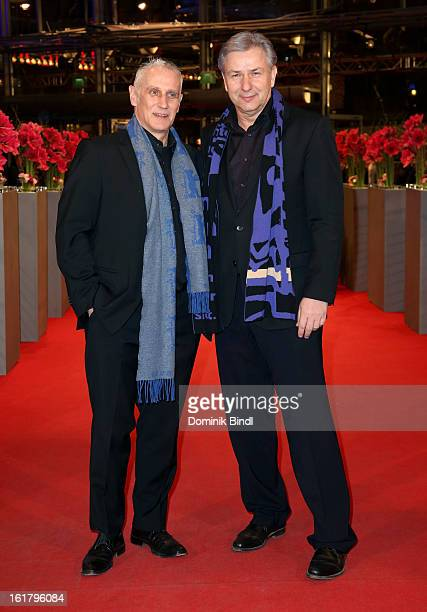 Klaus Wowereit and Joern Kubicki attend the Closing Ceremony of the 63rd Berlinale International Film Festival at Berlinale Palast on February 14,...