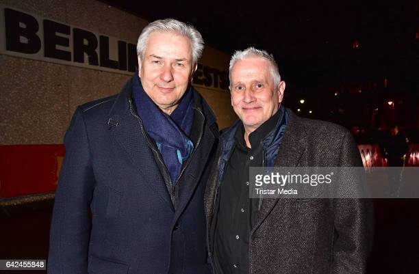 Klaus Wowereit and Joern Kubicki attend the Teddy Awards at Haus Der Berliner Festspiele on February 17, 2017 in Berlin, Germany.