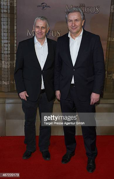 Klaus Wowereit and Joern Kubicki attends the German premiere of the film 'The Physician' at Zoo Palast on December 16 2013 in Berlin Germany