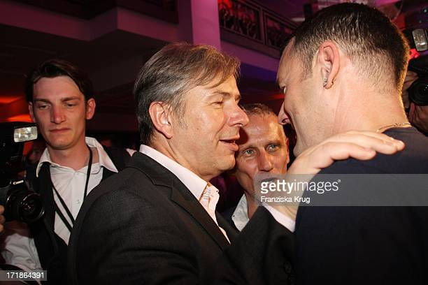 """Klaus Wowereit and Joern Kubicki friend And Michael Michalsky In The """"Michalsky"""" Party In The """"Mercedes Benz Fashion Week"""" in Berlin"""