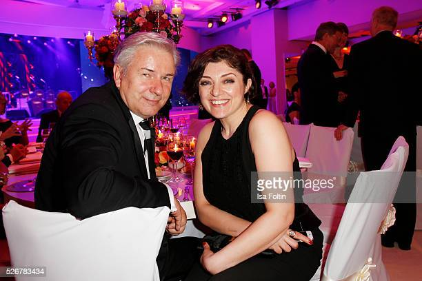 Klaus Wowereit and Nahid Shahalimi attend the Rosenball 2016 on April 30 2016 in Berlin Germany