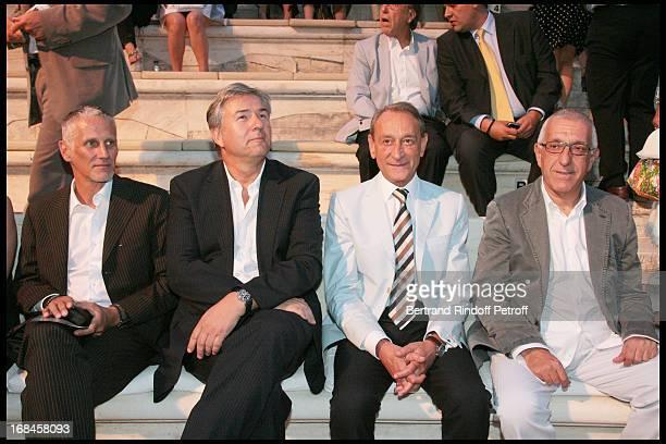 Klaus Wowereit Mayor of Berlin Bertrand Delanoe Mayor of Paris Nikitas Kalamanis Mayor of Athens at Nana Mouskouri's Farewell Concert At Odeon...