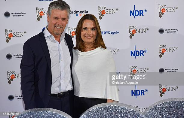 Klaus Zmorek and Jenny Juergens attend the celebration of 2000 episodes of Rote Rosen at Ritterakademie on April 24 2015 in Lueneburg Germany