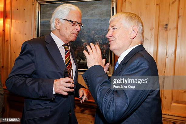 Klaus-Michael Kuehne and Otto Schily attend the Axel Springer Hosts New Year Reception on January 12, 2015 in Berlin, Germany.