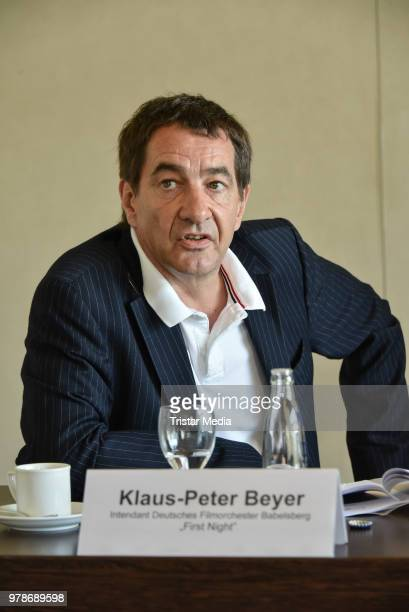 KlausPeter Beyer during the Classic Open air press conference on June 19 2018 in Berlin Germany