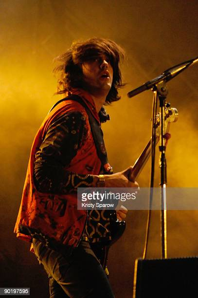 Klaxons performing on stage during the Rock en Seine music festival on August 30 2009 in Paris France