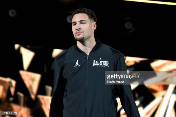 Klay Thompson enters at the 67th NBA AllStar Game Team LeBron Vs Team Stephen at Staples Center on February 18 2018 in Los Angeles California