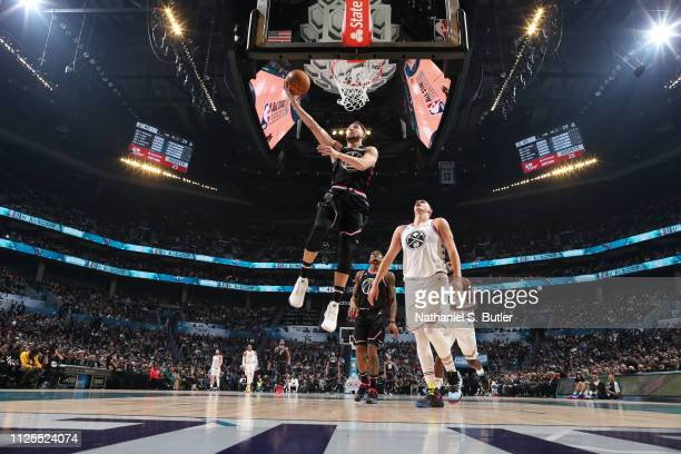Klay Thompson of Team LeBron shoots the ball against Team Giannis during the 2019 NBA AllStar Game on February 17 2019 at the Spectrum Center in...