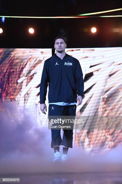 Klay Thompson Team Stephen is introduced before the NBA AllStar Game as a part of 2018 NBA AllStar Weekend at STAPLES Center on February 18 2018 in...