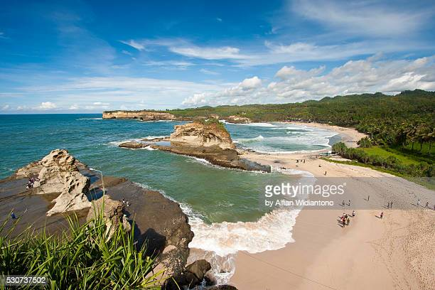 klayar beach - east java province stock photos and pictures