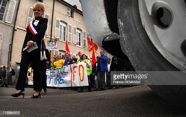 Kleber'S Workers Demonstrate To Protest Against The Decision Of The Mother-Company, Michelin, Of Closing Kleber'S Factory In 2009 In Toul, France On...